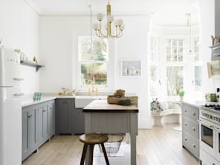 The Park Kitchen Nottingham by deVOL deVOL Kitchens Classic style kitchen Wood Grey
