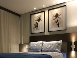 Quarto Casal - Residencial Casa da Madeira - Caldas Novas - GO Quartos modernos por Brasilia Design de Interiores Moderno