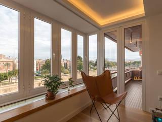mirador y terraza: Terrazas de estilo  de Ecoproyecta