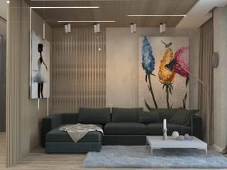 Гостиная/коридор (г.Волгоград) ЖК Арбат Гостиная в стиле лофт от DS Fresco Лофт