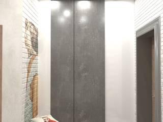Прихожая (г.Волгоград) ЖК Арбат Коридор, прихожая и лестница в стиле лофт от DS Fresco Лофт