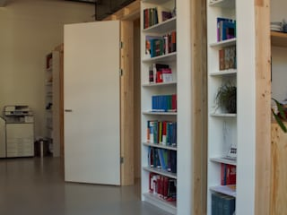 Totaalconcept interieur van het hoofdkantoor De Haagsche Meester in Bink36 in Den Haag Moderne kantoor- & winkelruimten van Erik van Zanten Ontwerpen en Bouwen Modern