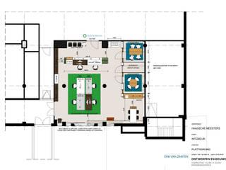 Totaalconcept interieur van het hoofdkantoor De Haagsche Meester in Bink36 in Den Haag:  Kantoor- & winkelruimten door Erik van Zanten Ontwerpen en Bouwen