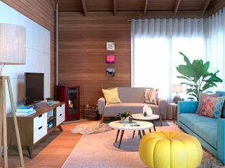 Design Interiores - Casa Gramado por ARC+ Arquitetura Eclético