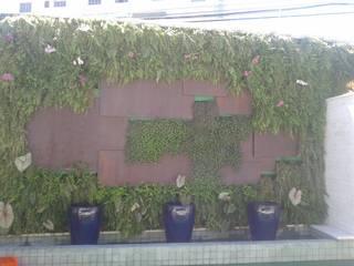 Jardim vertical Jardins tropicais por Agua Viva Lagos e Paisagismo Tropical