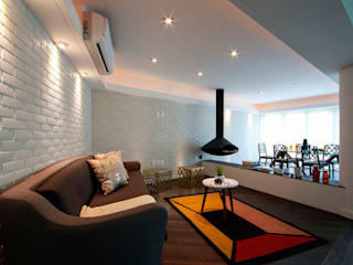 Suites Polanco: Salas de estilo  por All Arquitectura