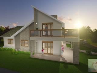 Projeto Residencial Casas tropicais por Monyke Marques Arquitetura e Interiores Tropical