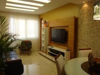 Reforma de Apartamento no Leme | Av. Atlântica Salas de estar modernas por Debiaze Arquitetura Moderno