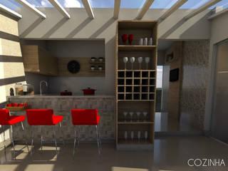 Pequena Cozinha Cozinhas modernas por Lélia Chitarra Moderno
