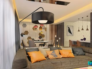 Salas de estar modernas por Axis Group Of Interior Design Moderno