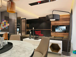 Moderne woonkamers van Axis Group Of Interior Design Modern