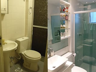 Banheiro Social | Freguesia - JPA por Debiaze Arquitetura