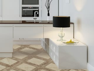 Light Travertine in Wood Look:   by Elalux Tile