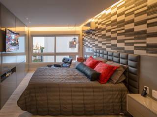 Apartamento Arte Bela Vista Quartos modernos por Quadrilha Design Arquitetura Moderno