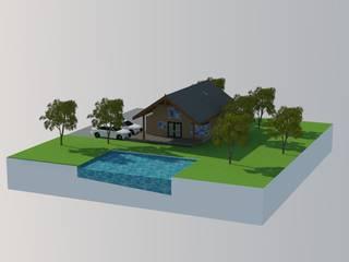 Fachada Principal : Casas de estilo rústico por Arquitectura y Construcción Chinquel