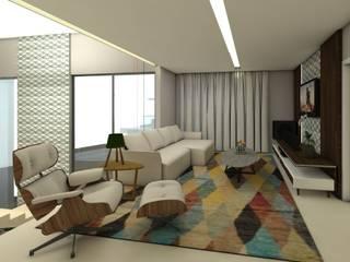 modern Living room by Arquitetando e Inspirando