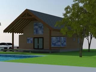 Arquitectura y Construcción Chinquel Rumah Gaya Rustic Kayu