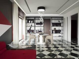Sergio Mannino Studio Modern Yemek Odası Mermer Beyaz