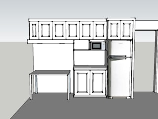Mueble Cocina de Arquitectura y Construcción Chinquel Rústico