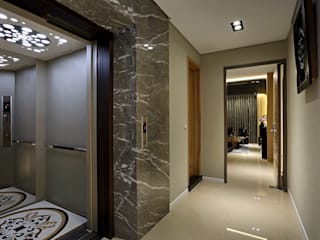 信美室內裝修 Modern Corridor, Hallway and Staircase Marble Grey