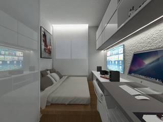modern Bedroom by Arquitetando e Inspirando