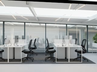Wnętrze biurowe od NUKO STUDIO Nowoczesny