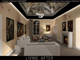 rendering restyling salone:  in stile  di INTERNO67 living design