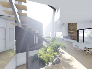 Vivienda unifamiliar en Aljucer, Murcia: Comedores de estilo  de Santa-Cruz Arquitectos