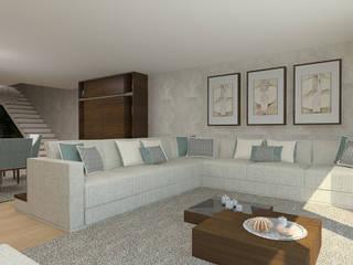 Apartamento Maputo Salas de estar modernas por 4Ponto7 Moderno