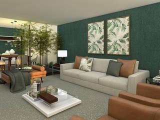 Apartamento Lisboa Salas de estar modernas por 4Ponto7 Moderno