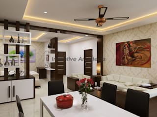 Interior Project for 3BHK Flat Modern living room by Inventivearchitects Modern