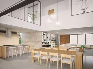 Casa HB: Salas de jantar  por Paralelo Arquitetura e Comunicação