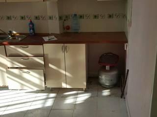 COŞGUN İNŞAAT PROJE – açık mutfaklı oda daha sonrasında bi kısmı tugla ile bölünerek tuvalet ve ayrı bir oda haline getirilecek.:  tarz