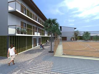 """Habitação Social - """"Casa para Todos"""" - Sal Rei, Ilha da Boavista, Cabo Verde Casas modernas por Jorge Lopes, LABORATÓRIO DE ARQUITECTURA Moderno"""
