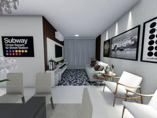 Residência João Paulo - Condomínio Portal das Araras Salas de estar modernas por Karla Araujo | Arquitetura + Interiores Moderno