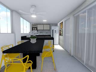 Residência Juscelino e Maria Angela Cozinhas modernas por Karla Araujo | Arquitetura + Interiores Moderno