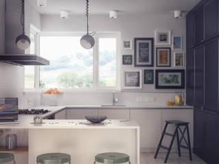 Cocinas de estilo moderno de hexaform Moderno