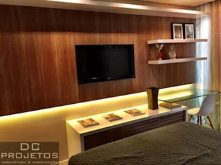 Apartamento de Praia:  tropical por DC PROJETOS,Tropical