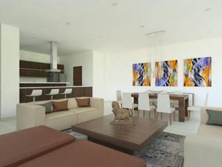 Casa 1 Las Brisas: Salas de estilo  por Viewport - Servicio de renderizado