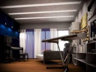 Servicio de diseño de interiores para casa habitacion. (2016) Estudios y despachos modernos de JIMDR Arquitectos Moderno