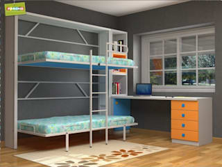 LITERAS ABATIBLES CON ESTRUCTURA METALICA EN SORIA de Muebles Parchis. Dormitorios Juveniles. Moderno