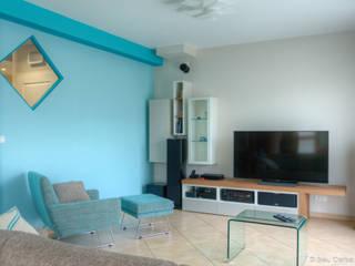 Pièce à vivre : Douceur géométrique Salon moderne par Bleu Cerise Moderne