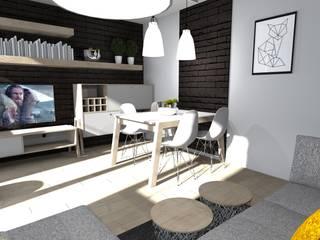 Konepcja mieszkania Limonki Studio Wojciech Siudowski
