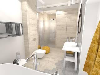 Projekt apartamentu w Szczecinie: styl , w kategorii  zaprojektowany przez Limonki Studio Wojciech Siudowski