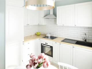 Tradycyjna kuchnia w bieli: styl , w kategorii Kuchnia zaprojektowany przez APKWADRAT