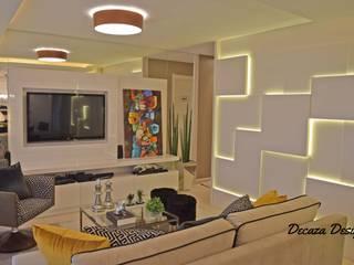 Sala Estar e Jantar em Destaque Ruang Keluarga Modern Oleh DecaZa Design Modern