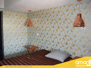 Amarillo Interiorismo Walls & flooringWall tattoos Amber/Gold
