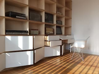 Abedul arquitectura Living roomStorage