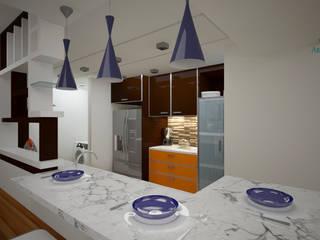 Residencial: Cocinas de estilo  por Vanguardia Arquitectónica