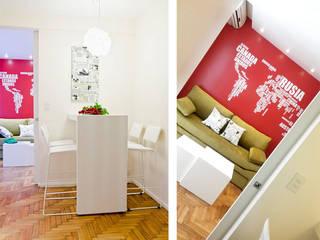 Millenials' Apartment Livings modernos: Ideas, imágenes y decoración de Majo Barreña Diseño de Interiores Moderno